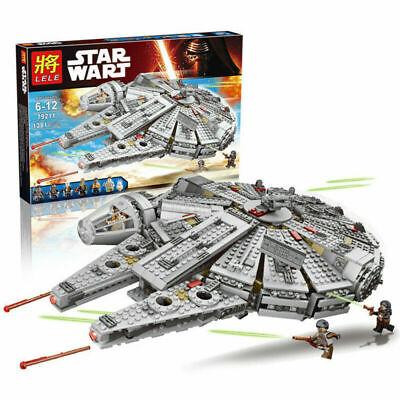 Star Wars Force Awakens Millennium Falcons Star Craft Compatible Lego Kids Gift