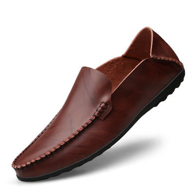 Mens Driving Shoes Loafers Flats Leather Shoesl Cowhide Moccasins Slips On Shoes ()