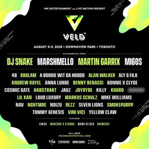 Selling two, 2 day Veld passes