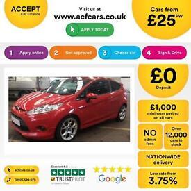 Ford Fiesta ZETEC S FROM £25 PER WEEK!