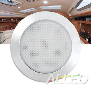 12V LED Dome Cabinet Light Canravan/Motorhome/RV Roof Ceiling Lamp Cool white