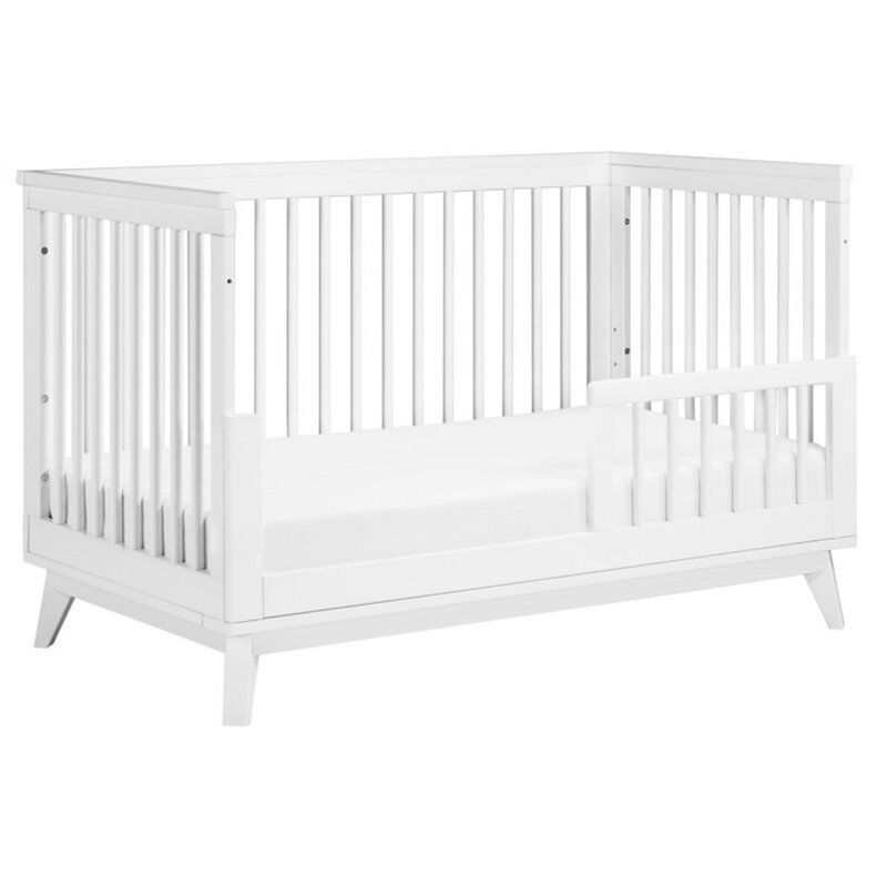 Scoot 3 in 1 Convertible Crib with Toddler Bed Conversion Kit in White
