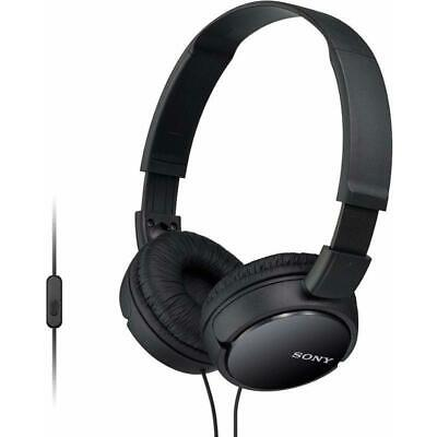 Sony MDR-ZX110AP ZX Series Extra Bass Smartphone Headset with Mic - Black Extra Bass Series Headphones