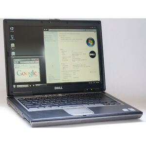 Dell D630 Laptop Intel Core2 Duo DVD-ROM WiFi 2GB RAM 60GB 14""