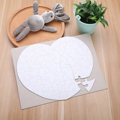 50pcs Blank Heart Sublimation Printable Jigsaw Puzzle For Heat Press Transfer