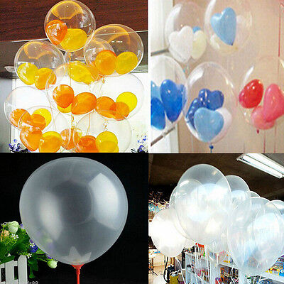 Wholesale 50PC Transparent Latex Balloons Birthday Wedding Party Decor Clear New (Wholesale Latex Balloons)