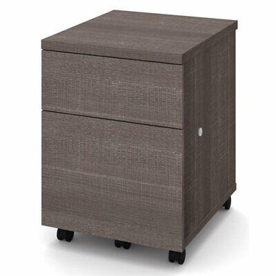 Bestar Mobile File Cabinet In Bark Gray