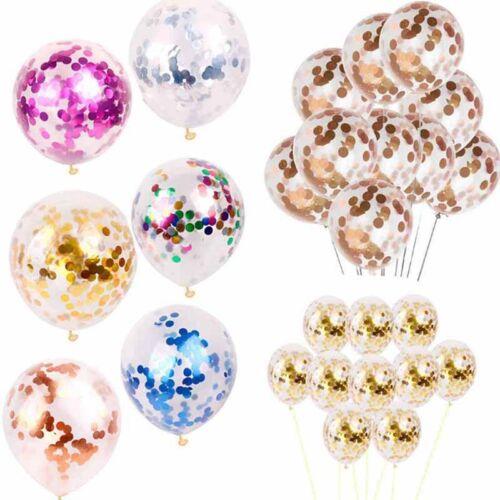 12inch 10color foil confetti latex balloon helium wedding bi