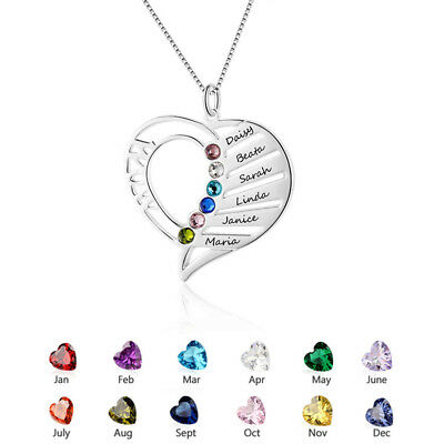 Personalized Birthstone Name Necklace Christmas Gifts for Mom Necklace #N39 - Personalized Gifts For Christmas