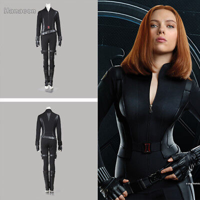 Black Widow Natasha Romanoff Cosplay Costume Outfit Captain America 2 Halloween