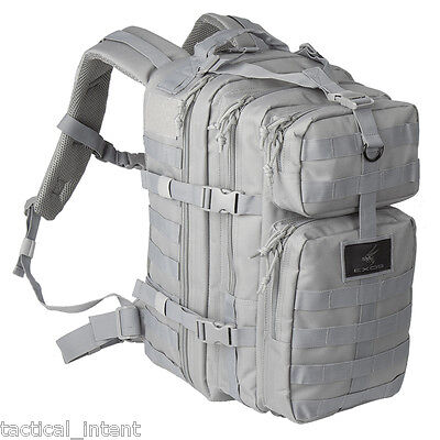 Exos Bravo Tactical Assault Molle Hydration Pack Ready Backpack - Grey