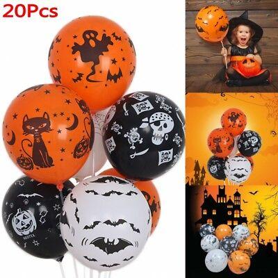12''Happy Halloween Balloons Skeleton Pumpkin Ghost Party Decor Supplies DIY - Halloween Ghost Decorations Diy