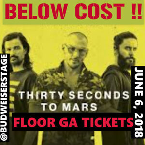 THIRTY SECONDS TO MARS@ BUDWEISER STAGE –BELOW COST FLOOR TICKET