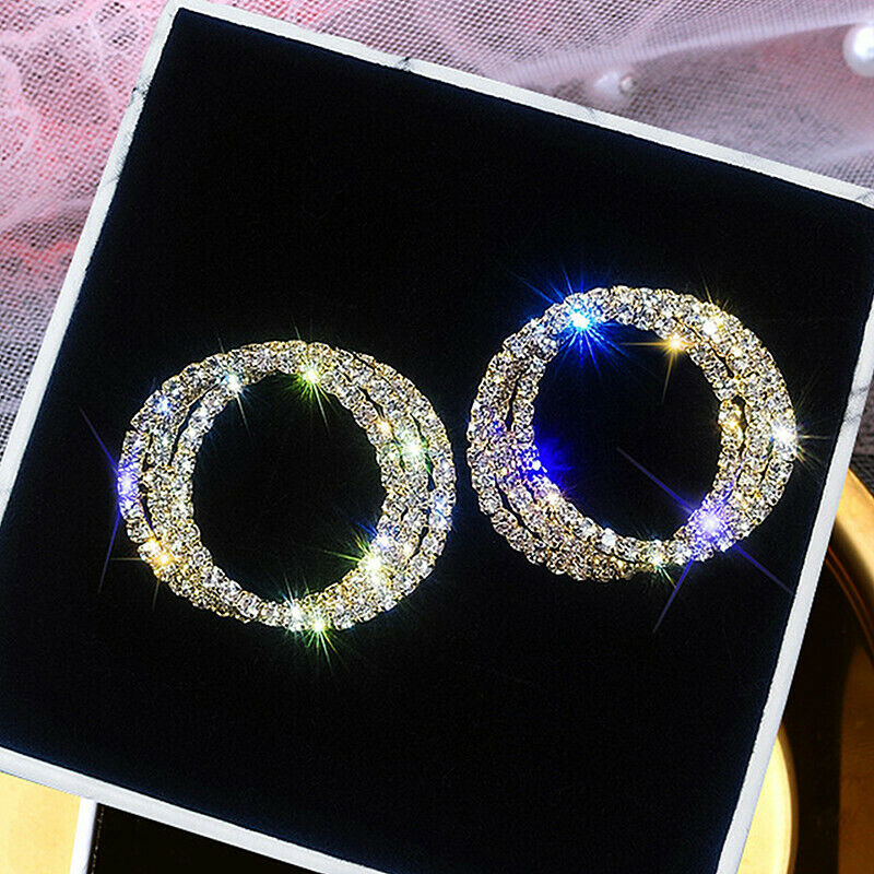 Jewellery - Gorgeous 925 Silver,Gold,Rose Gold Hoop Earrings for Women Jewelry A Pair/set