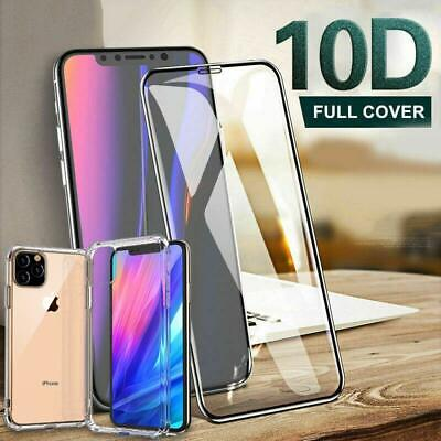 Screen Protector & Gel Case for iPhone XR,XS,11 Pro MAX FULL TEMPERED GLASS