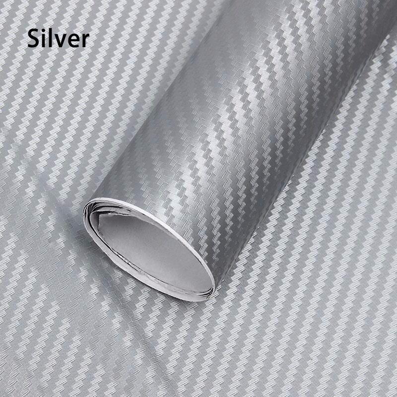 3D Silver Car Wrap Vinyl Sticker Sheet 1x1.5 meter
