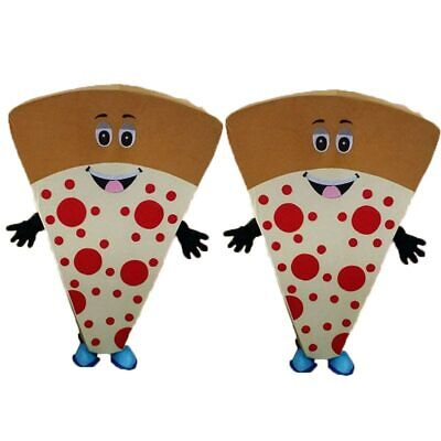 Food Pizza Mascot Costume Fancy Dress Cosplay Xmas Carnival Clothing Adult Suit
