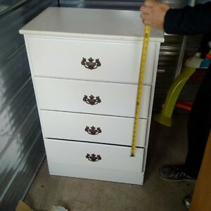 white all wood dresser