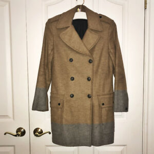 Women's designer Rag & Bone wool camel coat (size M)