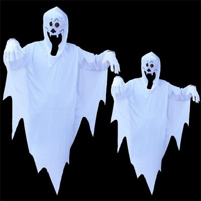 Halloween Party Scary White Ghost Costume Robe for Adult Men Women Kids Children (Scary Costumes For Halloween For Kids)