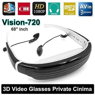 Vision-720 VR Virtual Reality 3D Video Glasses Eyewear AV IN F/ PSP TV-BOX DVD