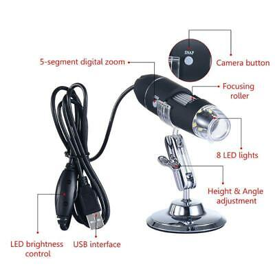 1600x Usb Digital Microscope Camera Endoscope 8led Magnifier With Metal Stand C