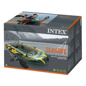 New In Box Intex Seahawk 4, 4-Person Inflatable Boat Set