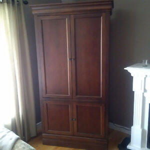 3-Piece Armoire and book shelf Unit