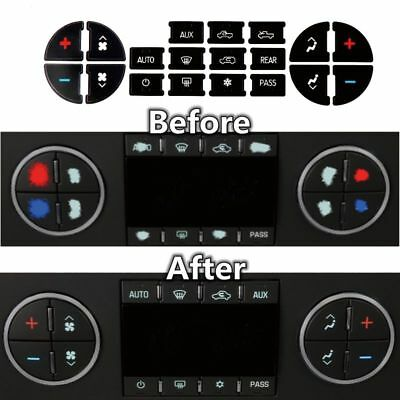 AC Dash Button Repair Kit Decal Stickers Replacement for Chevrolet GMC (Chevrolet Suburban 2500 Air)