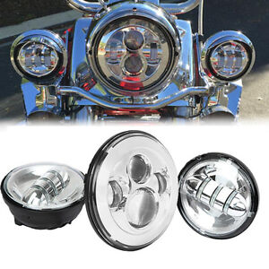 Daymaker Headlight + Auxiliary Light For Harley CVO Electra Glide Ultra Classic