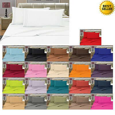 1500 THREAD COUNT PILLOW CASES ALL SIZES AND 12 COLORS