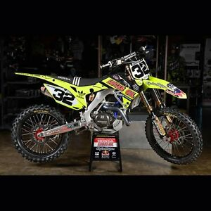 13-16 Honda CRF450 Lucas Oil Troy Lee Neon Full Graphics Kit