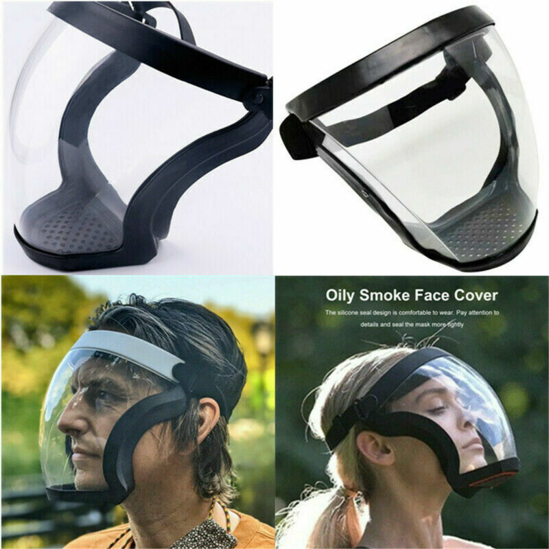 Active Shield Full Face Mask Cycling Sports Safety Protective Transparent Shield
