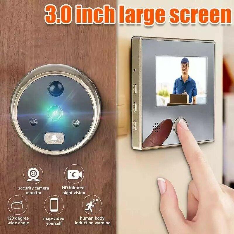 wireless doorbell camera with monitor waterproof touchscreen