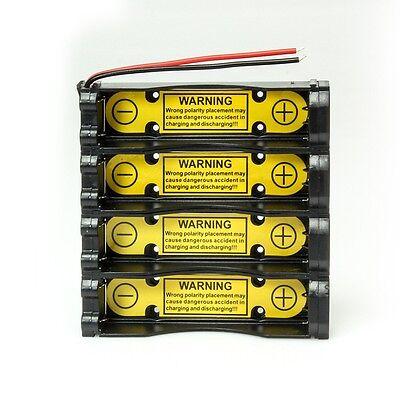 Akku-Box 18650 4S1P-14.8V für 4 Zellen, mit PCM PCB Batterie - Akku - Halterung