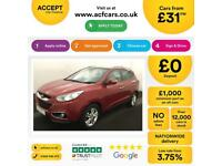 HYUNDAI IX35 RED 1.7 CRDI PREMIUM 2WD, STATIONWAGON DIESEL FROM £31 PER WEEK!