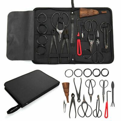 10PCS Bonsai Tool Set Carbon Steel Cutter Scissors Trimming Kit W/ Nylon Bag BE