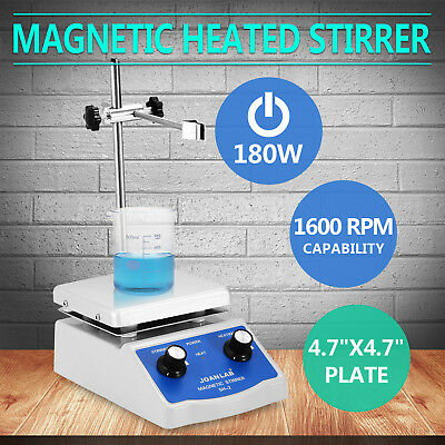 Us 110v Lab Hot Plate Heater Heating With Speed Control Magnetic Stirrer Mixer
