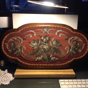 Victorian Beaded Needlepoint Tray