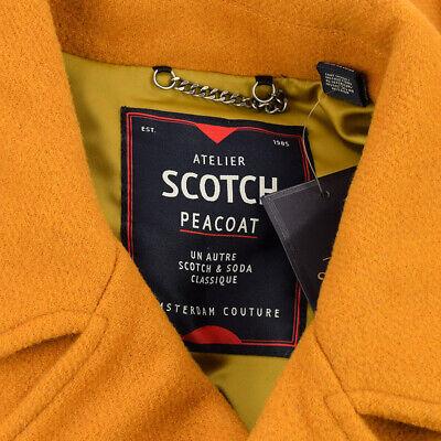 SCOTCH & SODA Mens Noix CABAN Classic Fit Wool Blend Peacoat LARGE NWT