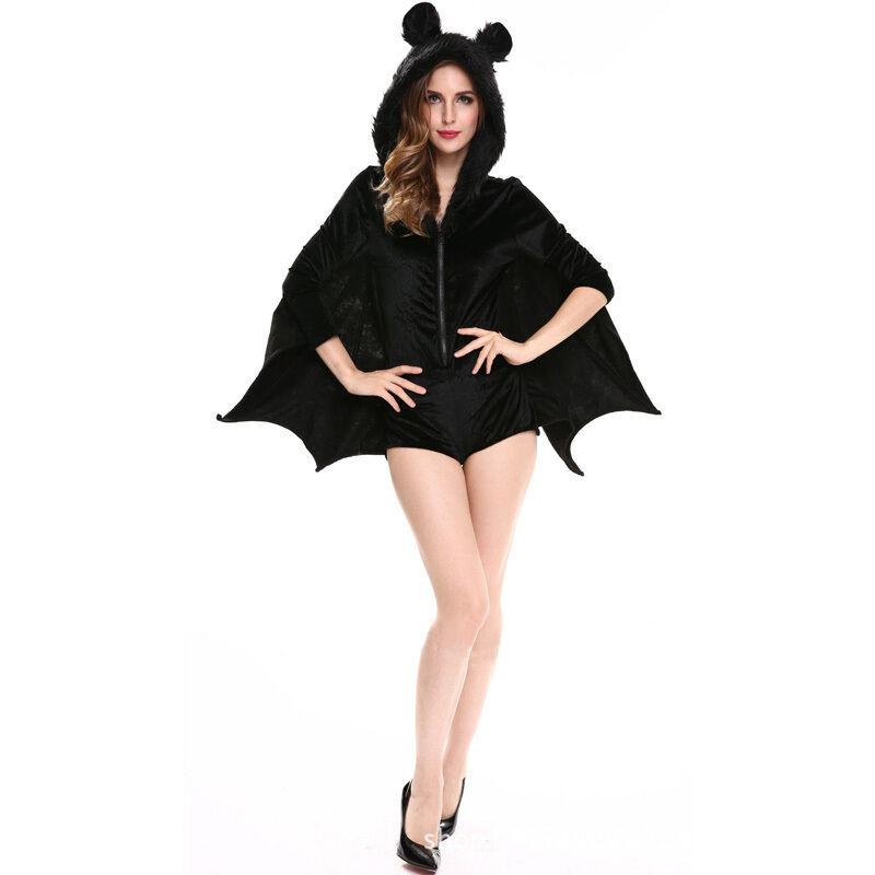damen vampir fledermaus kost m erwachsene cosplay overall halloween outfits eur 14 71. Black Bedroom Furniture Sets. Home Design Ideas