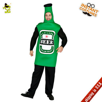 Funny Costumes For Adults (Beer Bottle Costume Carnival Party Funny Beer Bottle Emoji Cosplay for Adult)