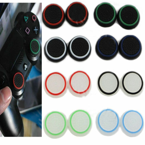 4 8pc Rubber Thumb Stick Cover Grip For Sony Ps3 Ps4 Xbox