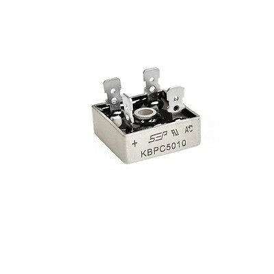 1pcs 50a 1000v Metal Case Single Phases Diode Bridge Rectifier Kbpc5010