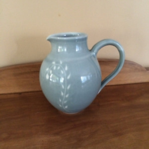 Signed hand made stone pottery jug