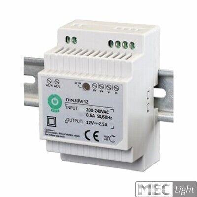 Hutschienen LED Trafo - SMD Netzteil 12V/DC - 30W - 2,5A (DIN30W12)