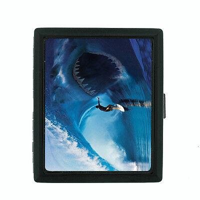 Loose Cigarette - Surfing D9 Black Cigarette Case / Metal Wallet Hang Loose 10 Waves