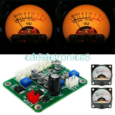 2pcs Vu Panel Meter 500ua Warm Back Light Recording Cable Wdriver Module Ca