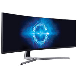 """Samsung 49"""" 32:9 144hz HDR best gaming dispaly mint new cond.."""
