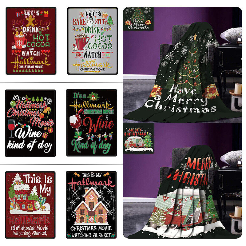 Soft Flannel Blanket 3D Christmas Printed Throw Blanket for